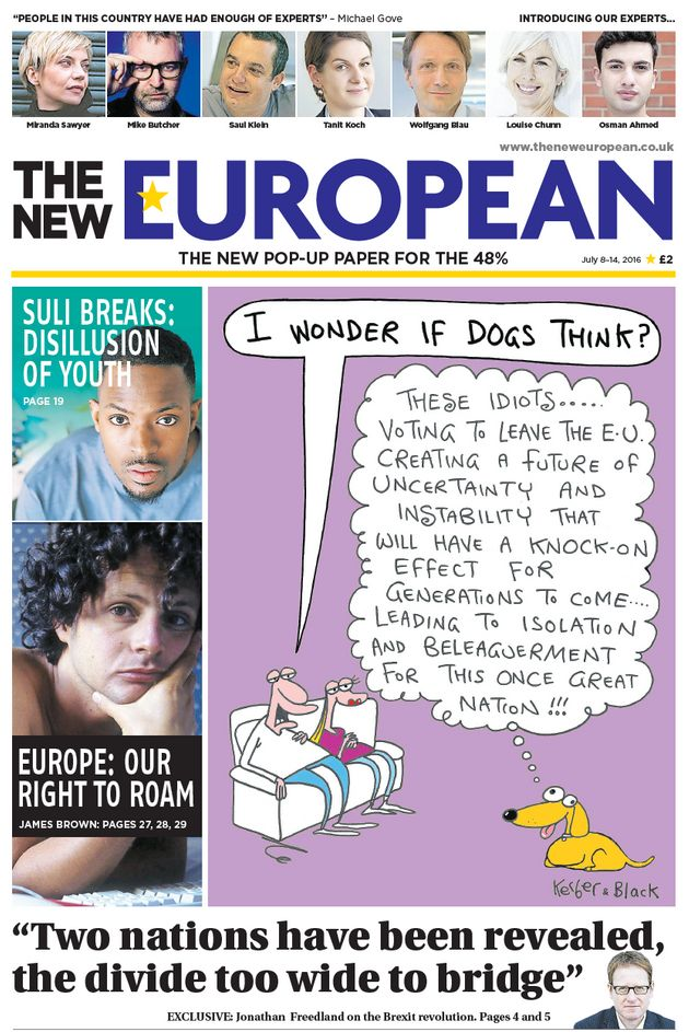 The New European Newspaper Launches For EU Referendum Remain Voters Feeling 'Sense Of
