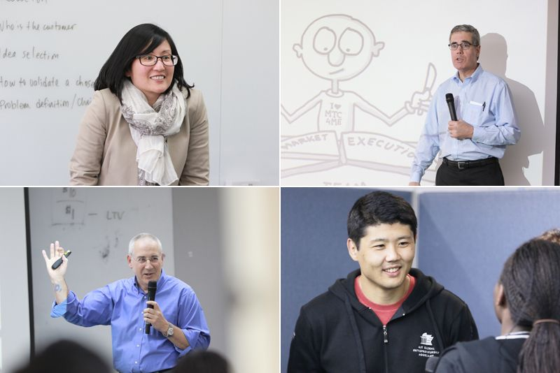 <i>At MIT Bootcamp you get taught by the world's finest Educators and Entrepreneurs - clockwise, from top lef