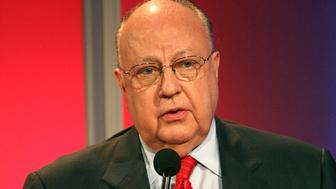 PASADENA, CA - JULY 24:  Chairman & CEO, FOX News Roger Ailes from 'Fox News' speaks onstage during the 2006 Summer Television Critics Association Press Tour for the FOX Broadcasting Company at the Ritz-Carlton Huntington Hotel on July 24, 2006 in Pasadena, California.  (Photo by Frederick M. Brown/Getty Images)
