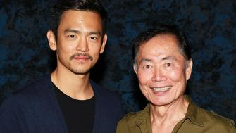 LAS VEGAS, NV - AUGUST 14:  Actors John Cho (L) and George Takei attend Day 4 of the Official Star Trek Convention at the Rio Las Vegas Hotel & Casino on August 14, 2011 in Las Vegas, Nevada.  (Photo by David Livingston/Getty Images)