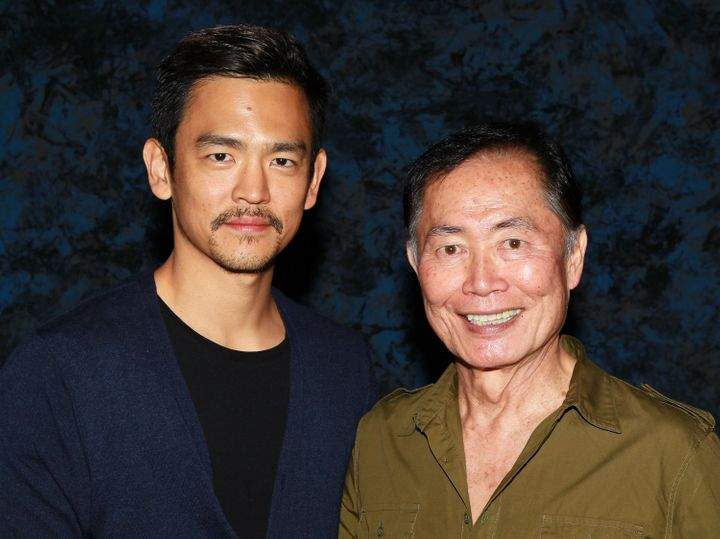 "George Takei (right) said he told actor John Cho (left) to persuade the creative team behind ""Star Trek Beyond"" to create an"