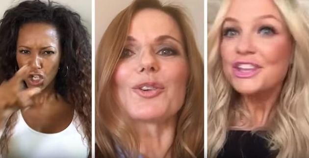 Mel B, Geri and Emma couldn't even get together in the same room to film the