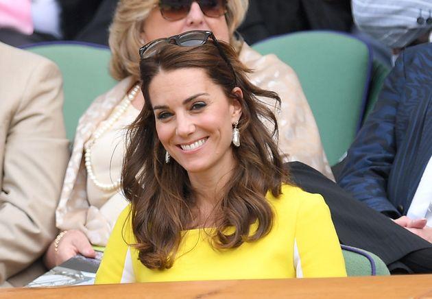 Duchess Of Cambridge Wears Yellow 'Banana Dress' To Wimbledon