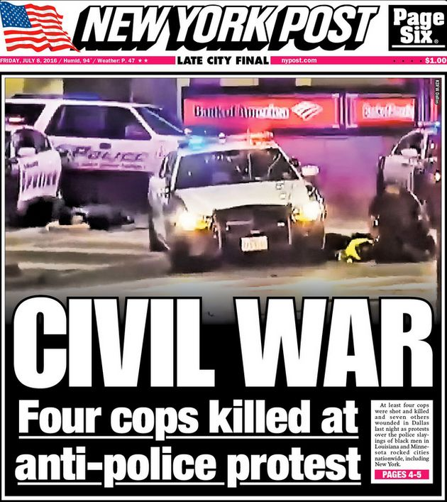 The New YorkPost's Friday front