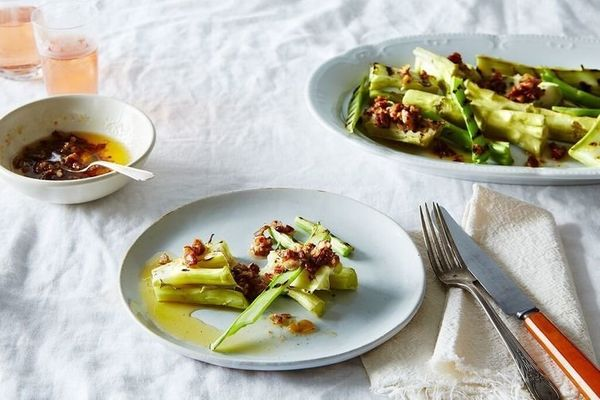 """<strong>Get the <a href=""""https://food52.com/recipes/18997-broccoli-marrow-with-pecan-garlic-butter"""" target=""""_blank"""">Broccoli"""