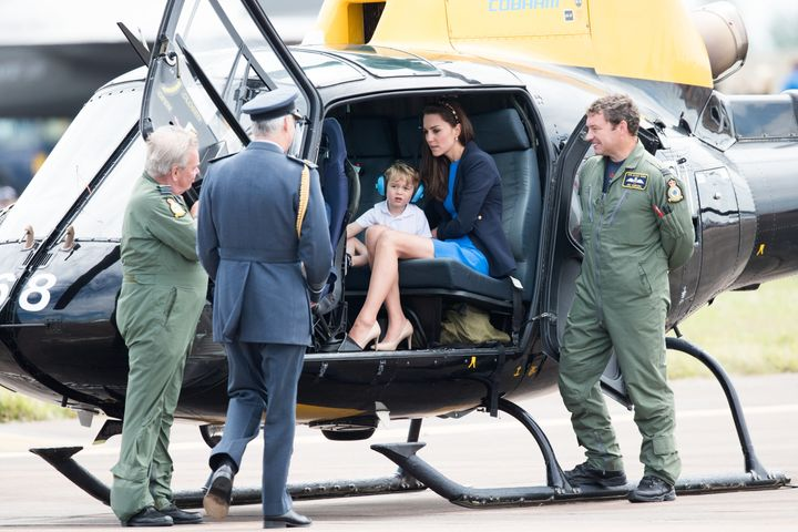 """Diggin' the headband, mom"" -- Prince George, probably."