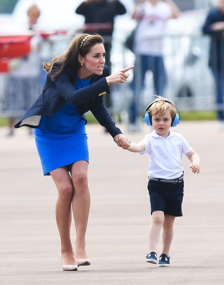 """Comeoncomeoncomeoncomeoncomeon"" -- Prince George, probably."