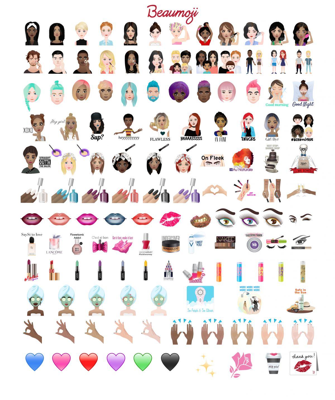 A Beauty-Themed Emoji Keyboard Now