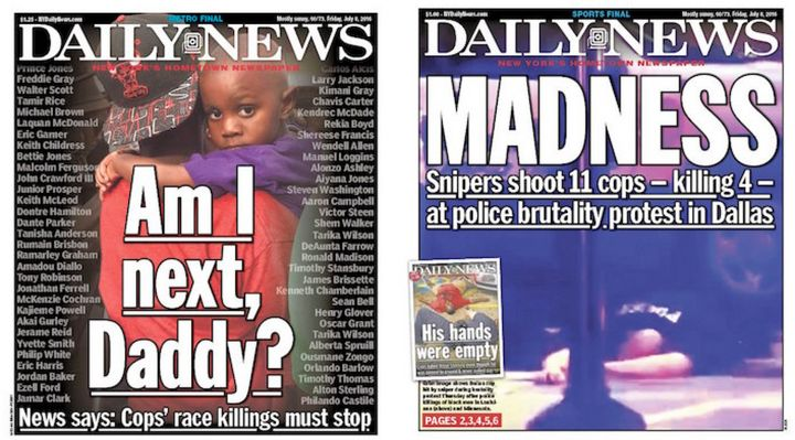 The Daily News responded to the Dallas shooting with a new Friday cover.