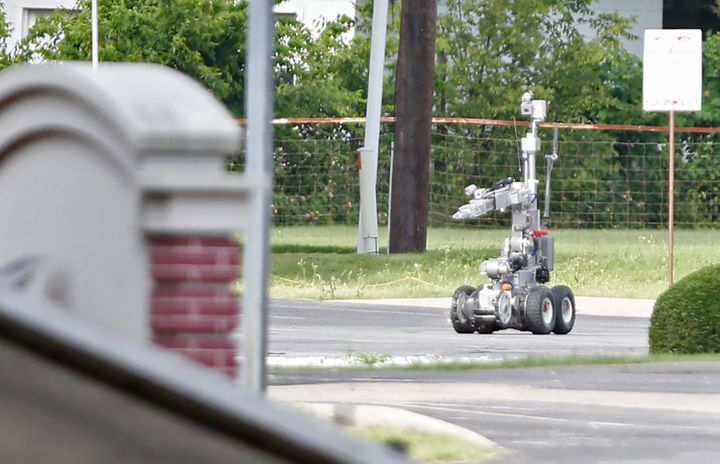 Last year, Dallas Police used this robot to access an armored van that they believed was rigged with explosives.