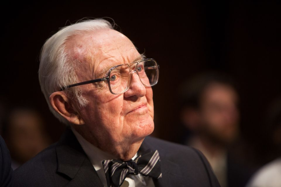 "Former Supreme Court Justice John Paul Stevens testifies before a Senate committee during a hearing entitled ""Dolla"