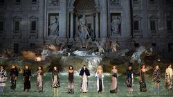 Fendi Models Walked On Top Of Rome's Trevi Fountain Last