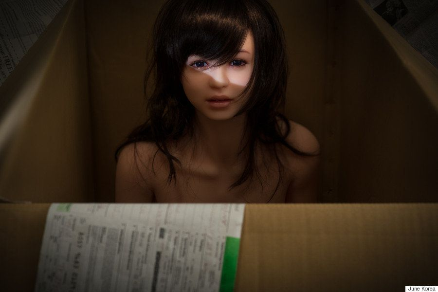 June Korea plans to continue to photograph Eva, the sex doll he ordered from Japan, for years to come.
