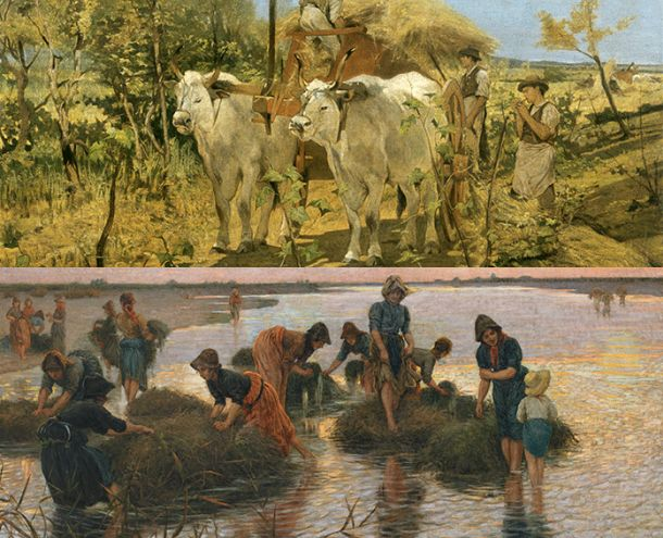 Paintings from I Macchiaioli. Le collezioni svelate.
