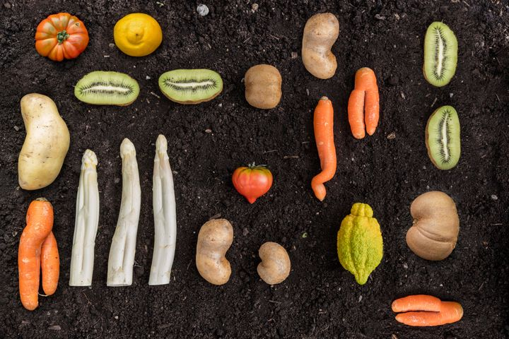 There's nothing wrong with these fruits and veggies, but supermarkets around the country would probably toss them because of how they look.