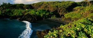 BEAUTY IN NATURE BLACK SAND BEACH CLOUD COASTLINE