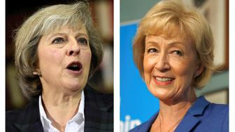 The two remaining candidates in the Conservative party leadership contest, Theresa May (L) and Andrea Leadsom, are seen in this combination of two photographs, released in London, Britain July 7, 2016. REUTERS/Staff      TPX IMAGES OF THE DAY