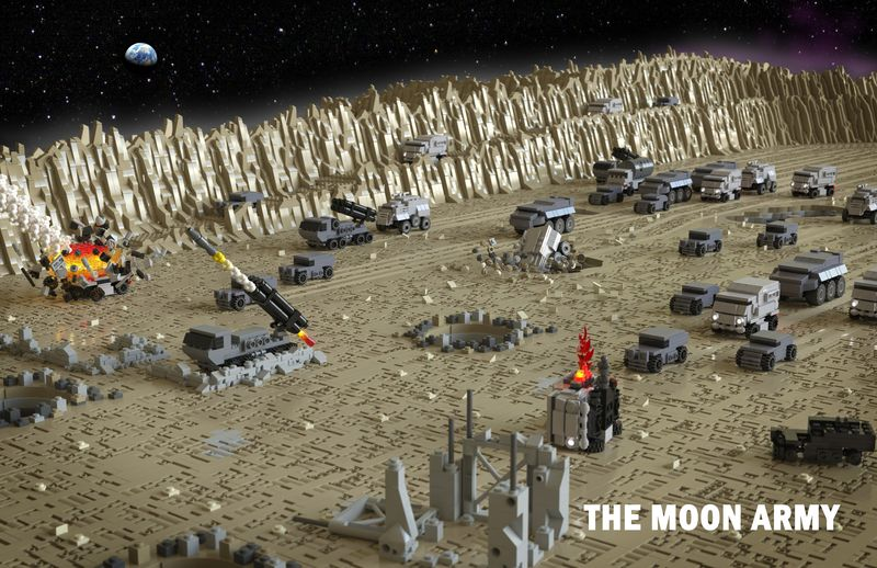 You can create your very own moon army, even if you have a small LEGO collection.
