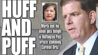 The Boston Herald focused on whether HuffPost's story on U.S. Attorney Carmen Ortiz was planted by Boston Mayor Marty Walsh (D).