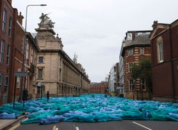 This Is Why There Are Thousands Of Naked People Painted Blue Around Hull