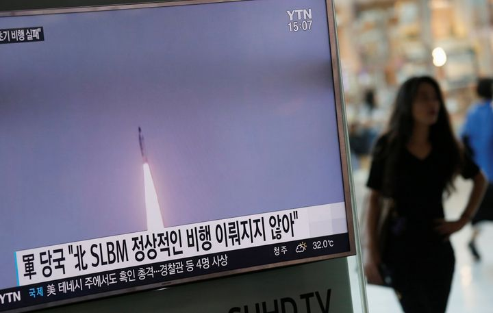 South Korea said Pyongyang fired a missile from a submarine but it failed after launch.
