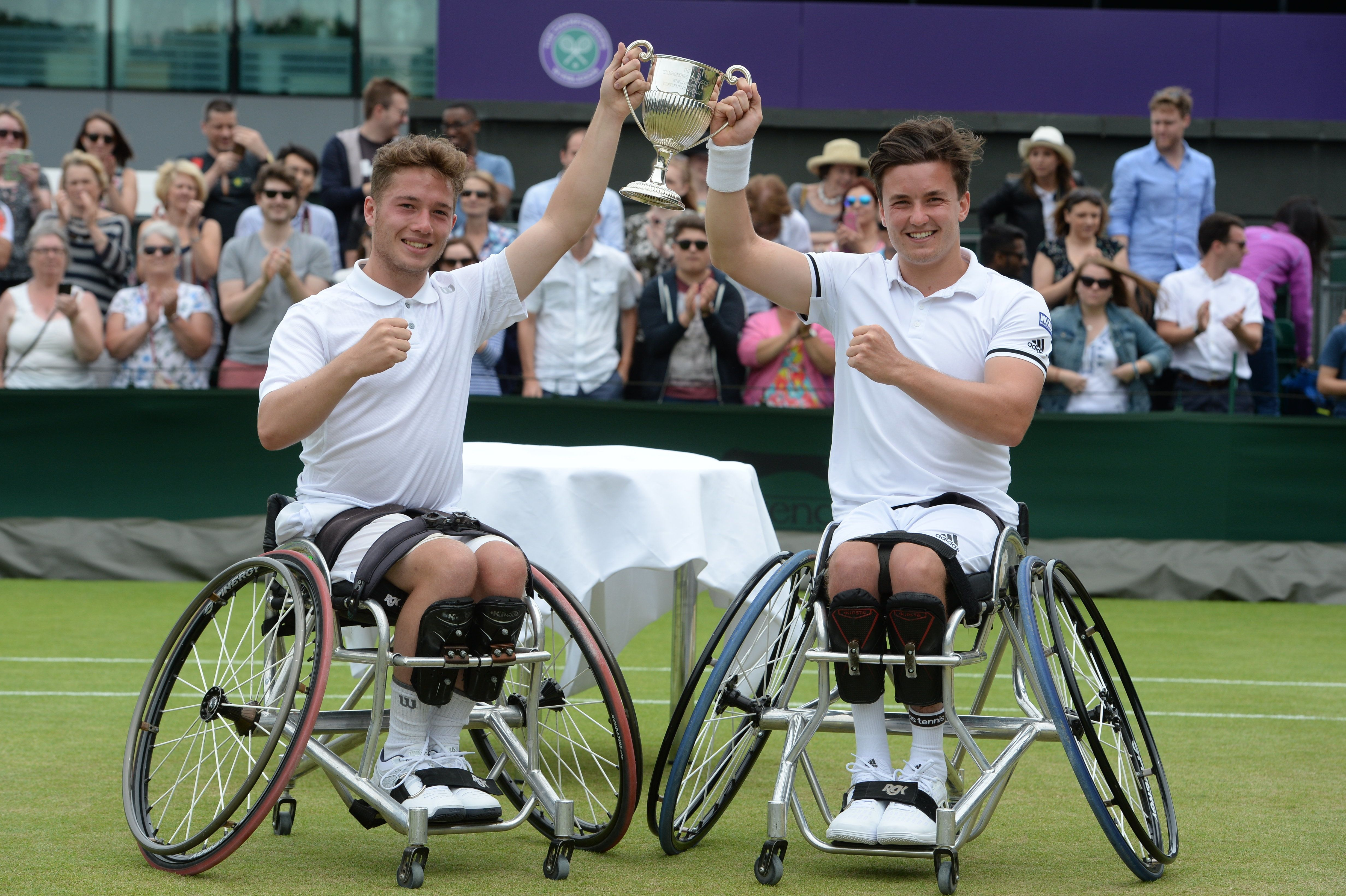 Men's Wimbledon Wheelchair Tennis Doubles Won By Brits For The Very First
