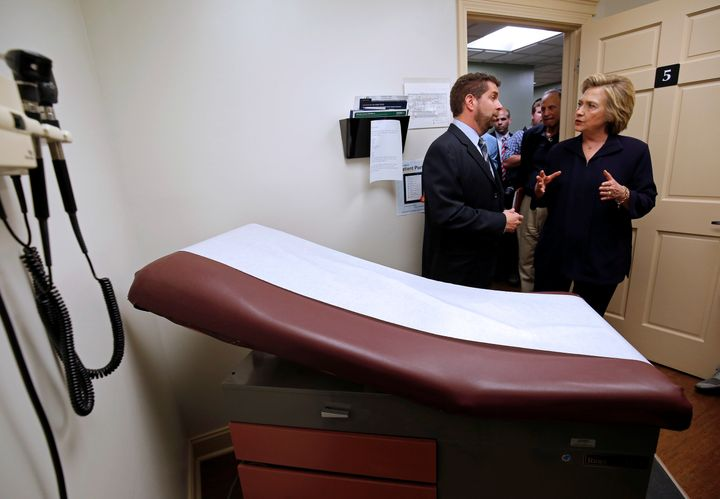 U.S. Democratic presidential candidate Hillary Clinton's call to increase funding for federally run health clinics is a