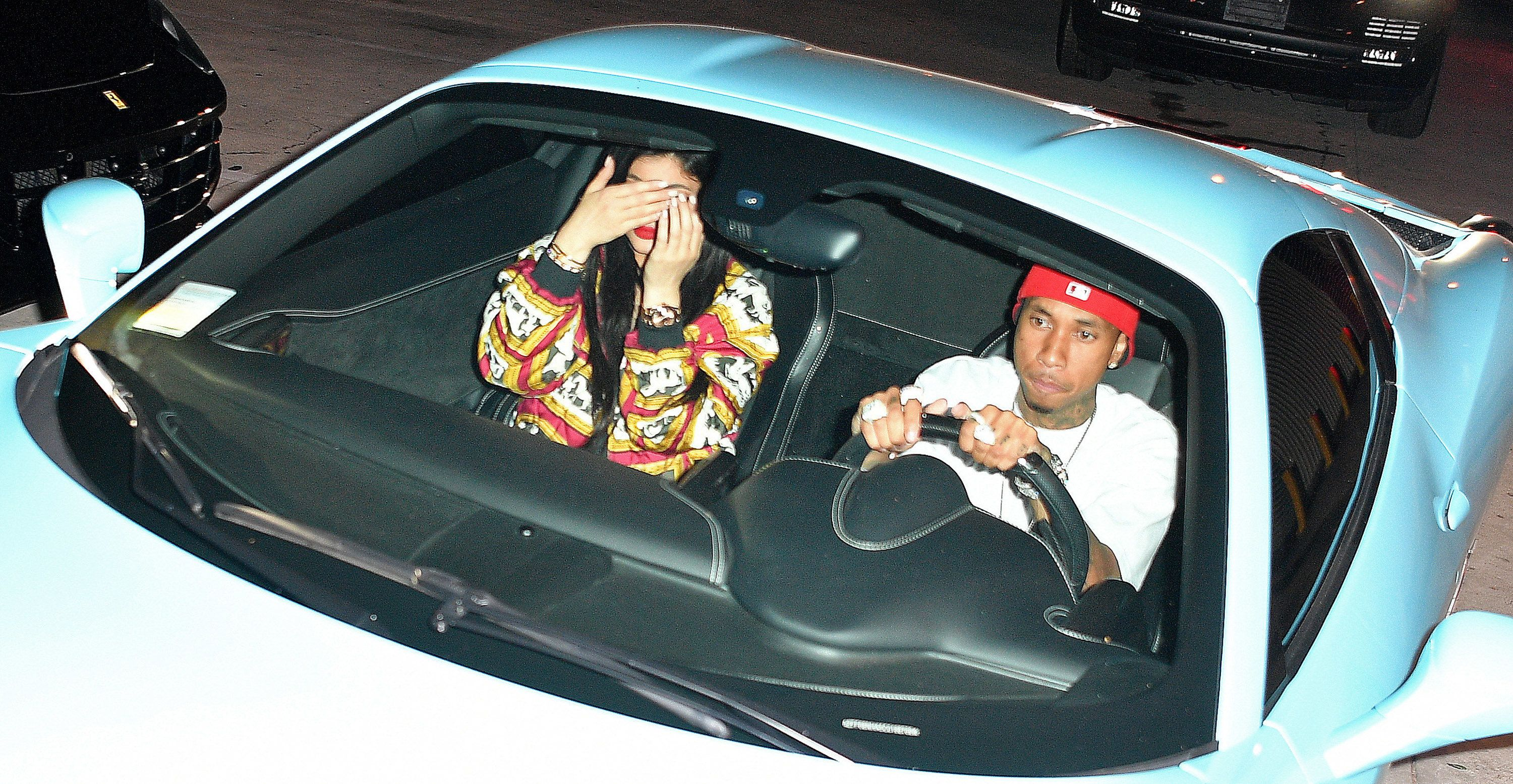 LOS ANGELES, CA - JUNE 25:  Kylie Jenner and Tyga spotted outside of 1 Oak Nightclub on June 25, 2016 in Los Angeles, California.  (Photo by Prince Williams/GC Images)
