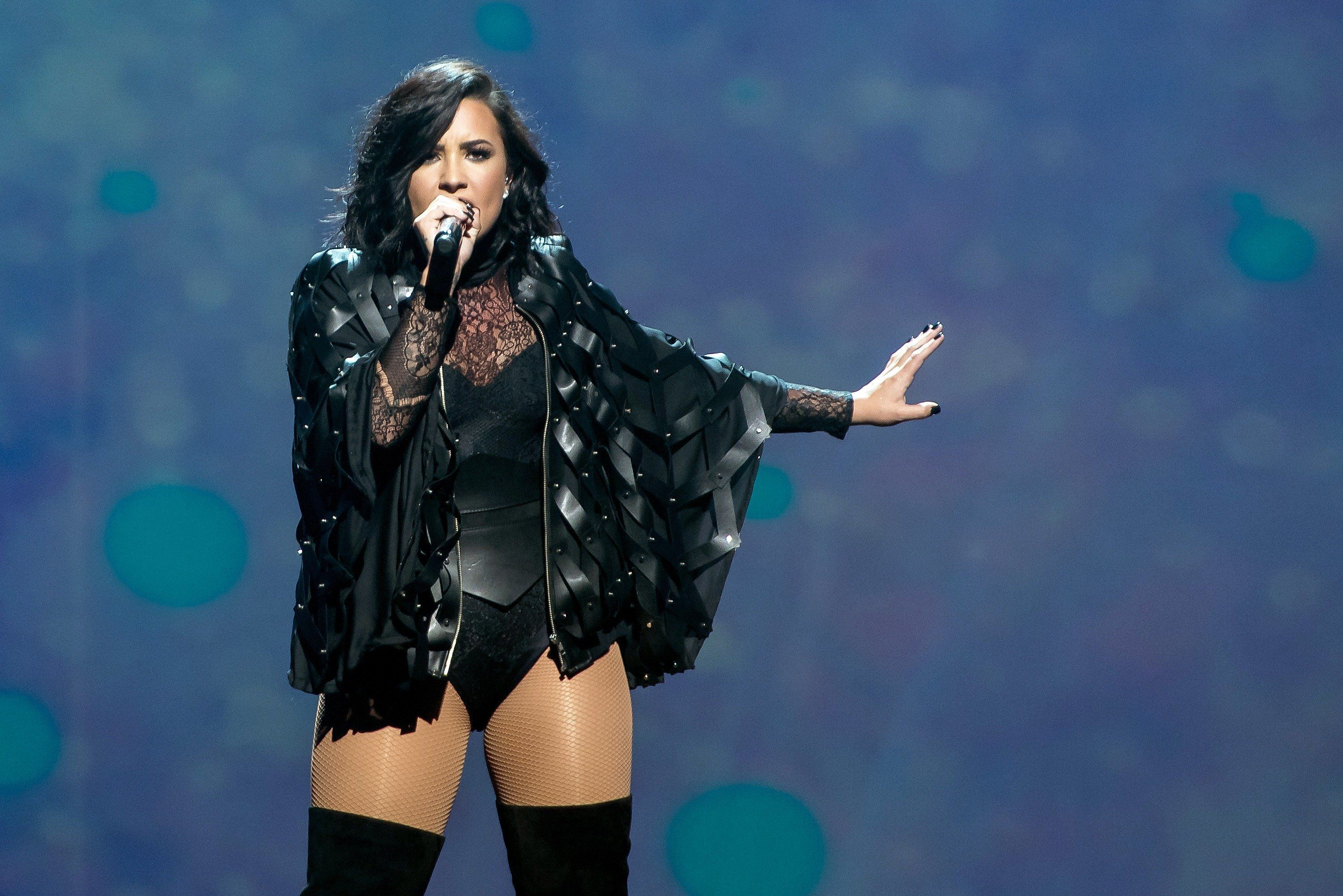 NEW YORK, NY - JULY 08:  Demi Lovato performs on stage during the 2016 Honda Civic Tour: Future Now at Barclays Center on July 8, 2016 in New York City.  (Photo by Mike Pont/WireImage)