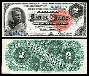 Winfred Scott Hancock's picture appeared <br>on the 1886 $2 silver certificate&nbsp;