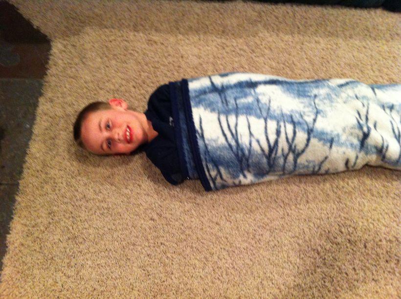 Wrapped up like a blanket burrito