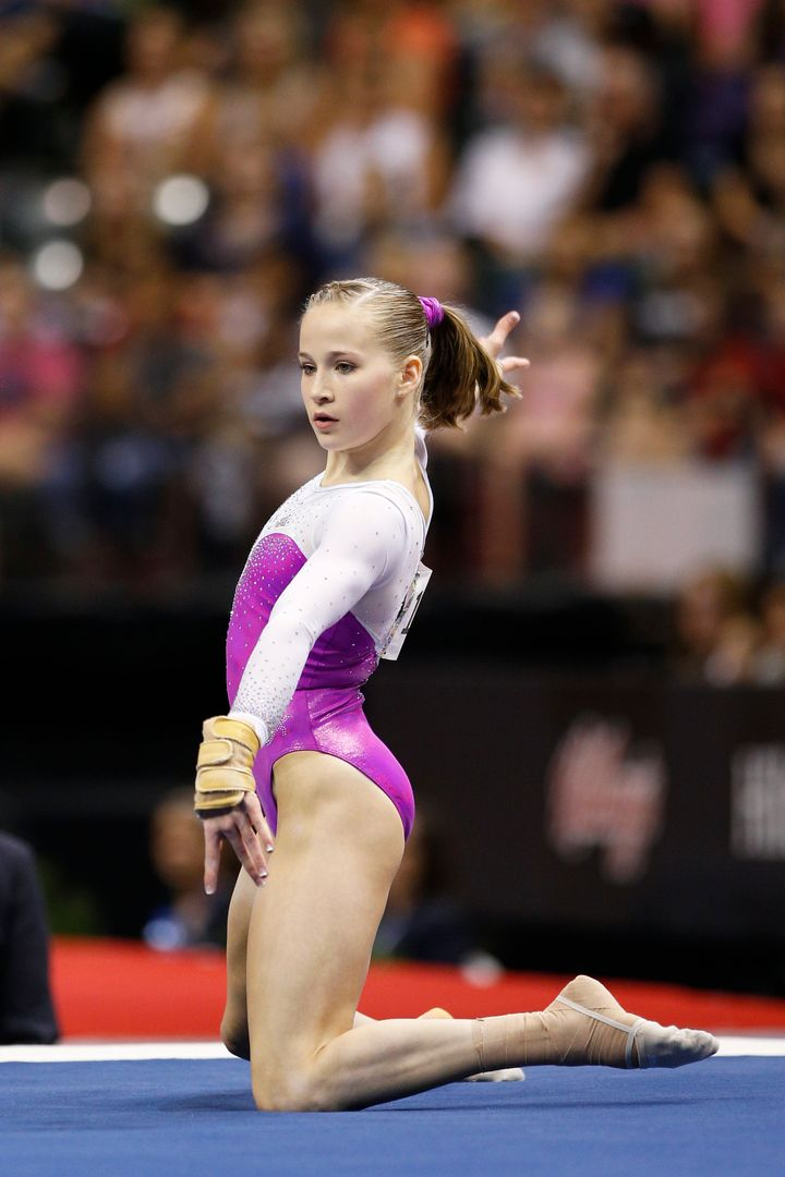 Madison Kocian in the 2015 P&G Gymnastics Championships finals on Aug. 15, 2015.
