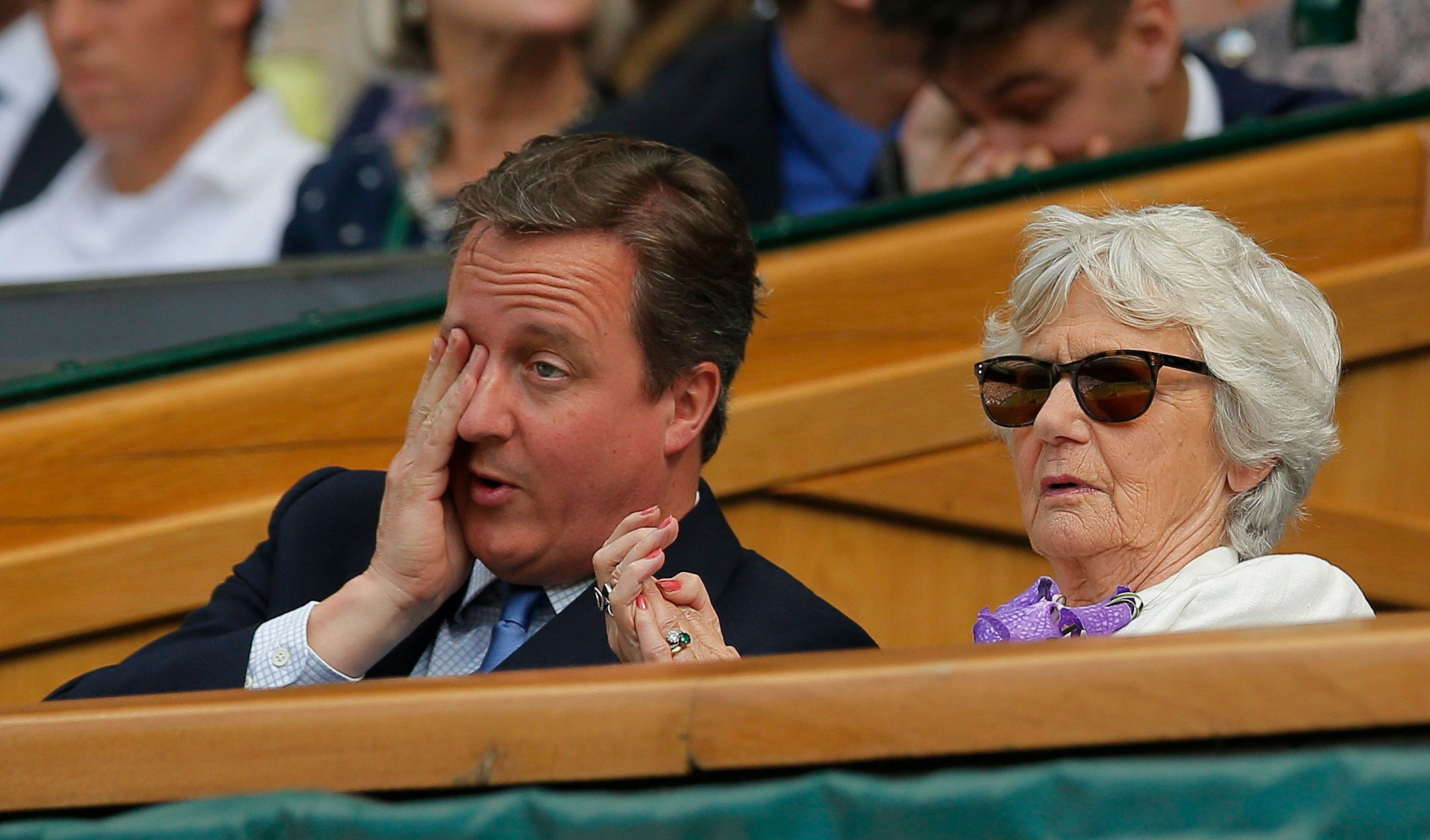 David Cameron, pictured at Wimbledon with his mother Mary, was booed by the