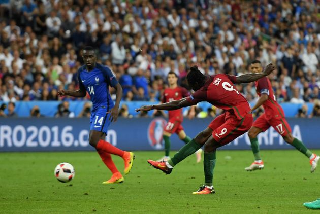 Eder scores for Portugal during overtime, to secure the Euro 2016