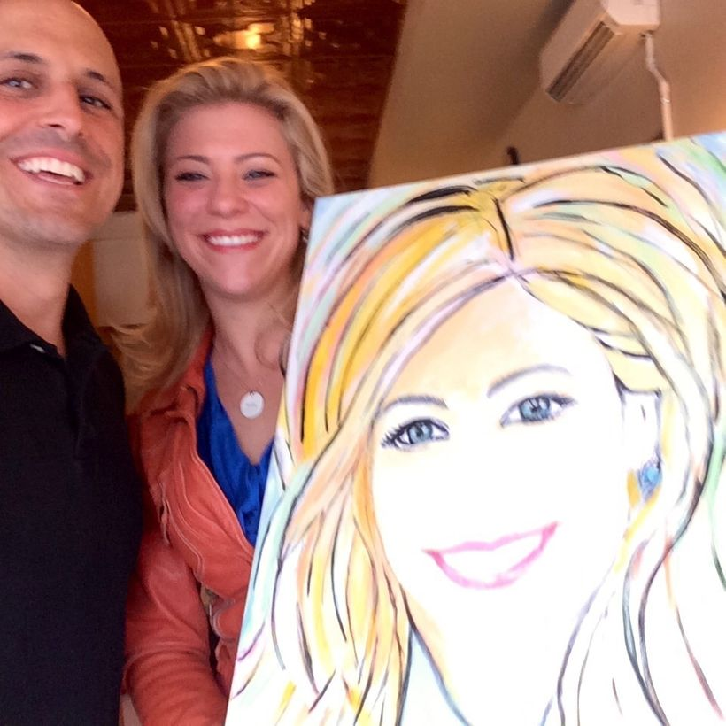 With Christy Uffelman and her FierceWomen portrait.