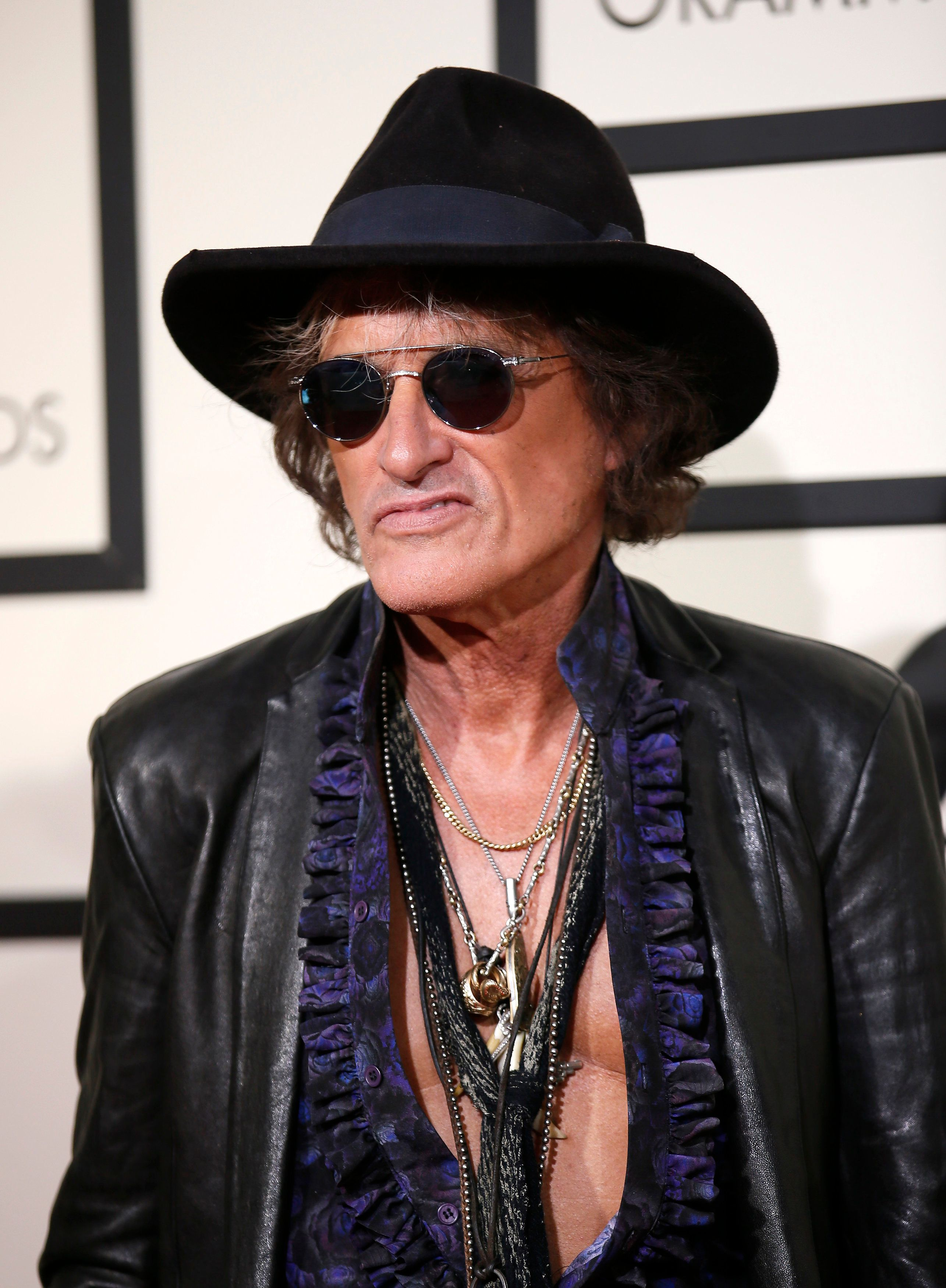 Musician Joe Perry arrives at the 58th Grammy Awards in Los Angeles, California February 15, 2016.  REUTERS/Danny Moloshok