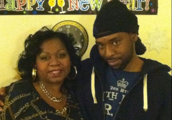 Philando Castile with his mother,