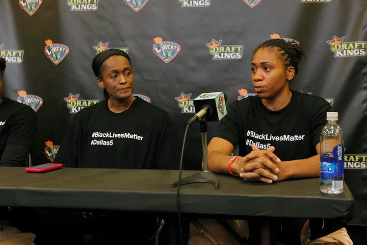 Liberty players speak on the recent violence as well as their decision touse their platform to promote messages of&nbsp