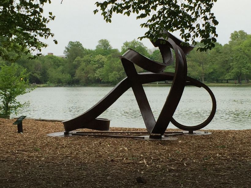 <i>Valentine 2</i>, by Carole Eisner, at the Peninsula in Prospect Park, Brooklyn
