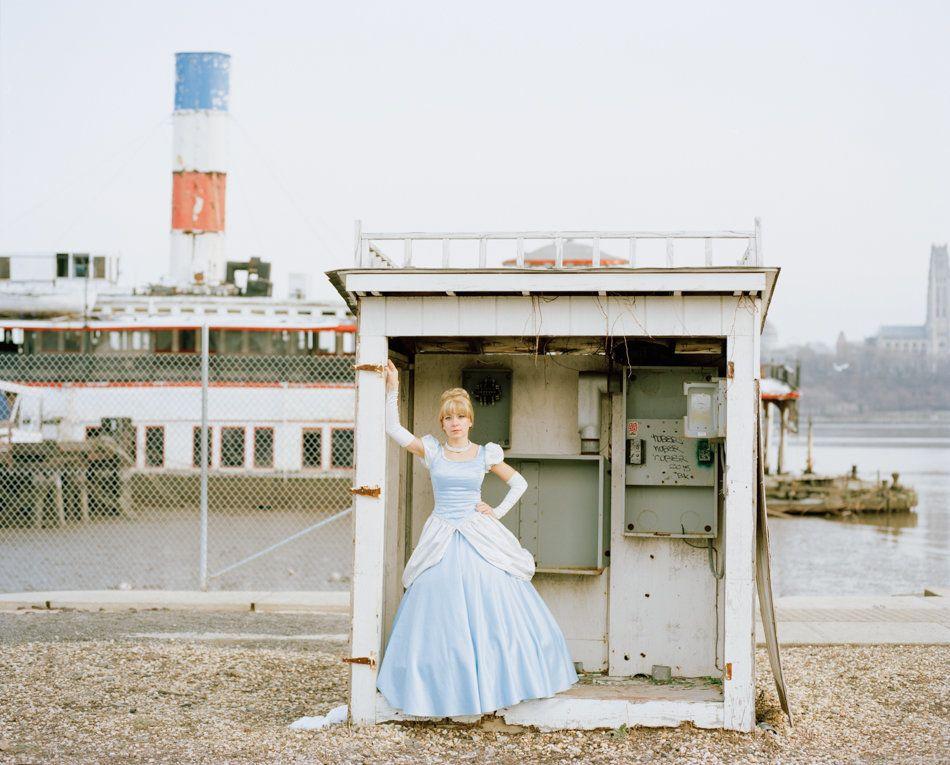 Cinderella standing by East River sunken steamboatBinghamton