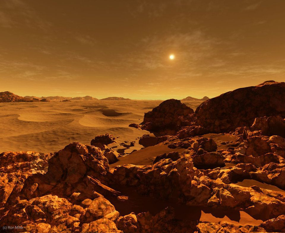 The sun as seen from Mars, which is about 142 million miles from the sun. SinceMars is one-and-a-half times farther fro