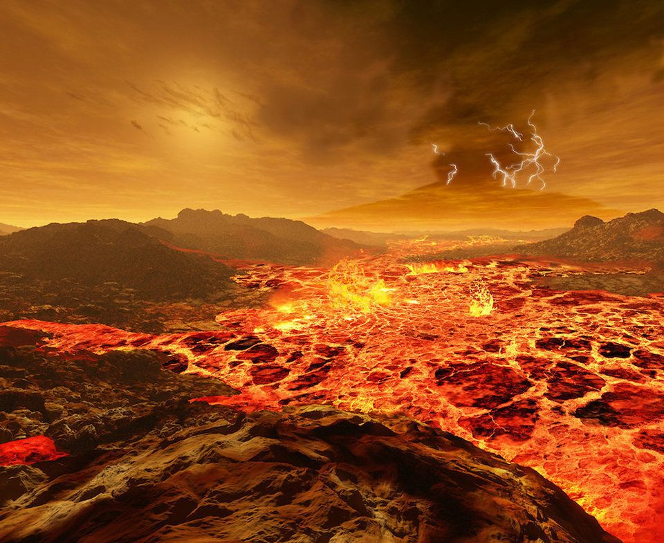 The sun as (almost) seen from Venus, which is about 67 million miles from the sun (72 percent of the distance from Earth to t
