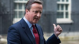 British Prime Minister David Cameron gestures as he addresses the media outside 10 Downing Street in London on July 11, 2016, where he announced that Theresa May would be Britain's new leader.  Theresa May will become Britain's new leader on Wednesday, Prime Minister David Cameron said on Monday after her sole rival pulled out of a leadership race. / AFP / CHRIS J RATCLIFFE        (Photo credit should read CHRIS J RATCLIFFE/AFP/Getty Images)
