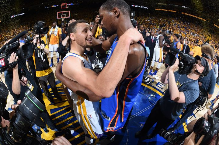 Steph Curry and Kevin Durant help make the Warriors the most lethal offense in league history.
