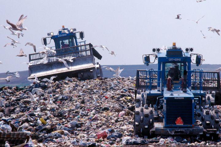 Fresh Kill landfill on Staten Island, New York.