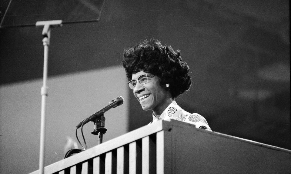 Rep. Shirley Chisholm addressed the Democratic National Convention in Miami Beach, Florida, in July