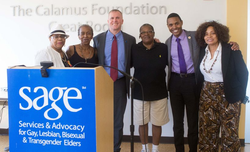 I stand with NYC Councilmember Ritchie Torres and SAGE participants as we announce the new NYC housing developments.