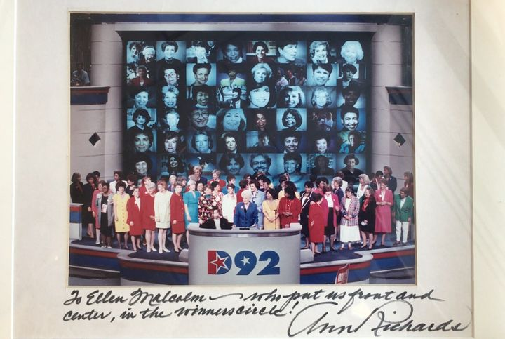 Women were center stage at the 1992 convention, too. Texas Gov. Ann Richards chaired the event, and EMILY's List held a