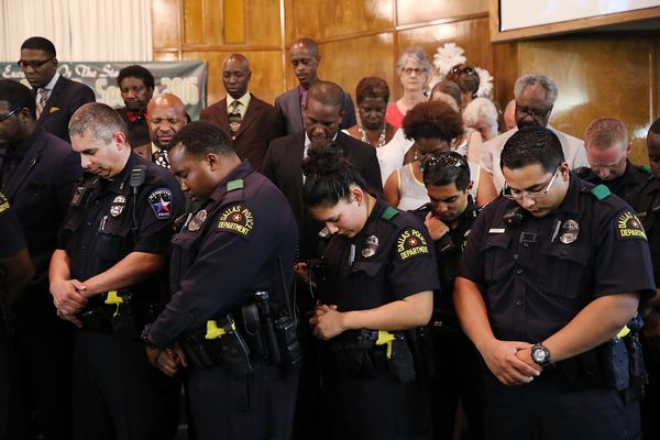 Sunday's servicewas organized byDallas Area Interfaith, a multicultural partnership of civic institutions, and he