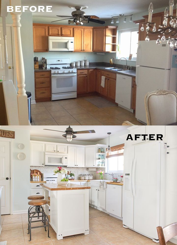 Before and after 7 amazing kitchen makeovers huffpost for Before after kitchen makeovers